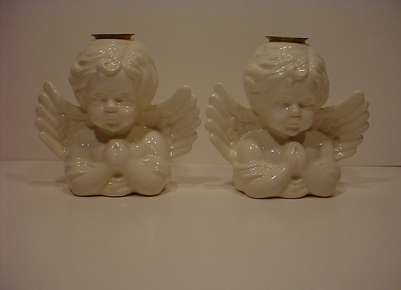 Two Cherub Candle Sticks