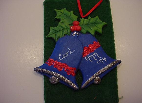 Double Christmas Bells Ornament