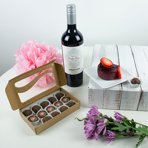 Wine & Truffles Gift Box