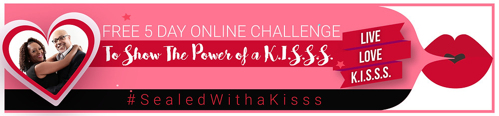 Free online 5 day K.I.S.S.S. Challenge to learn how a simple kiss can impact your marriage.