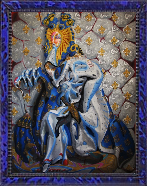 Louis XIV in Coronation robes