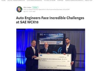 SAP summarize the WCX 18 Connected Cars Challenge