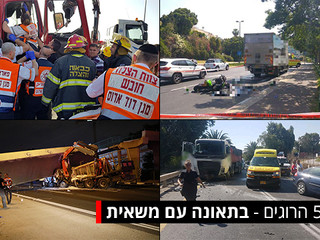 Heavy vehicles constitute only 3% of the total number of vehicles in Israel but responsible for more