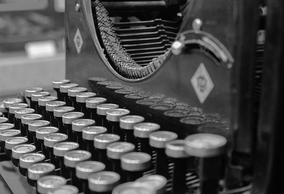 Close up of a typewriter