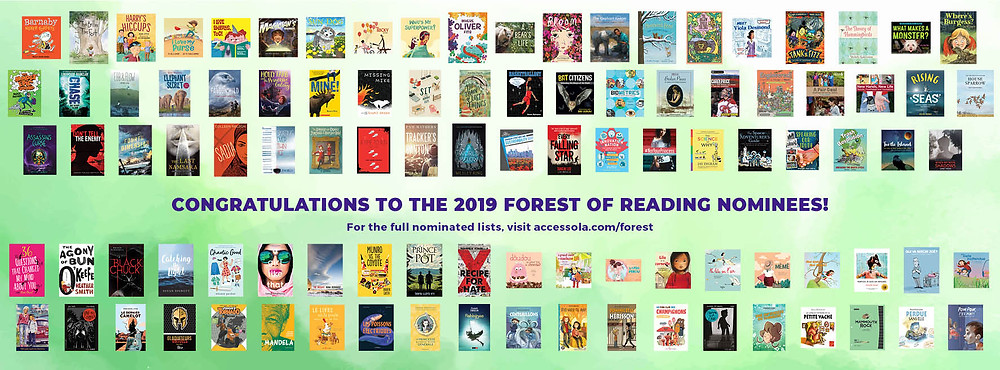 Forest of Reading nominee covers