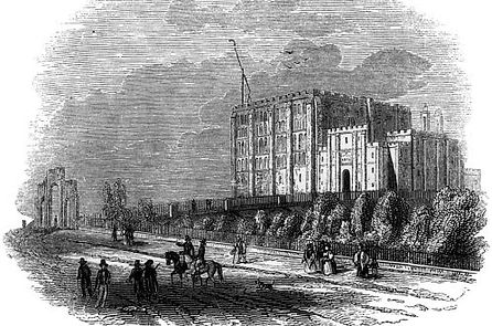 19th century engraving of Norwich Castle