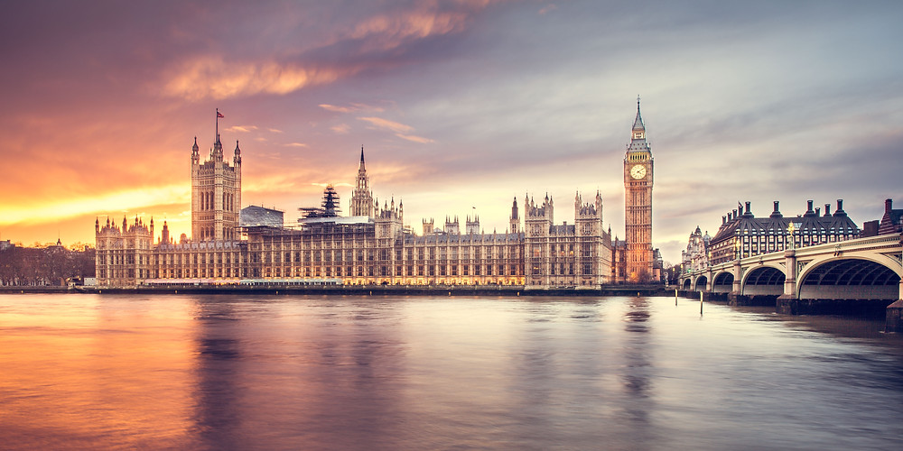 The London skyline with Big Ben