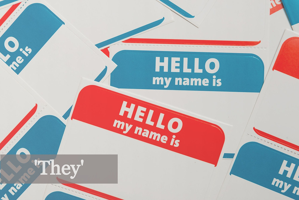 Name Tag 'They'