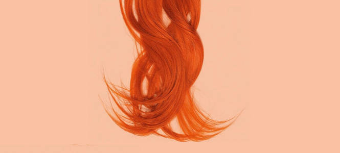 Red hair strands