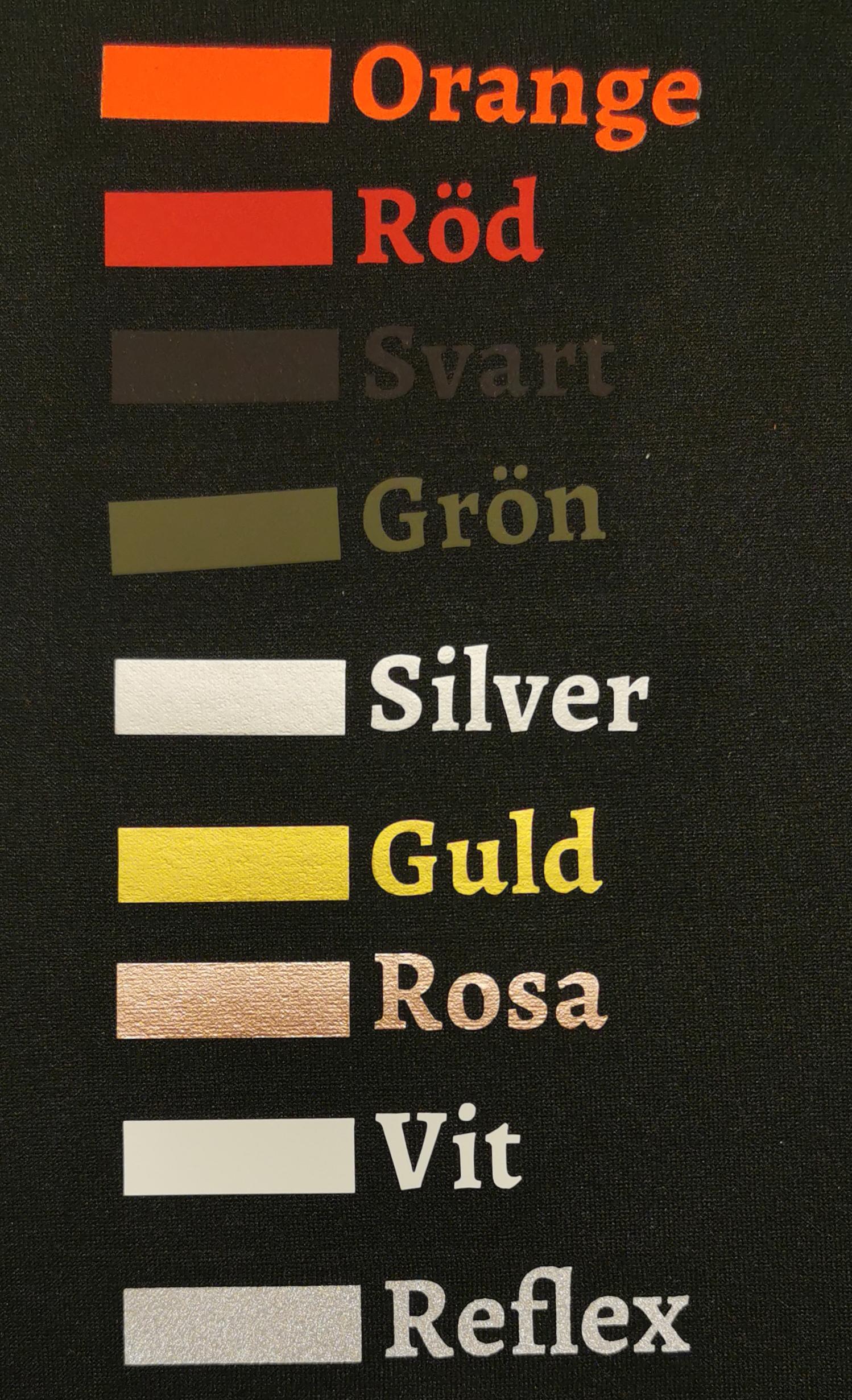 Färger på text