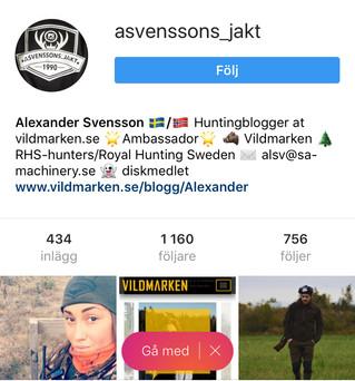 Nytt samarbete med asvenssons_jakt ni hittar han härhttps://www.instagram.com/asvenssons_jakt/