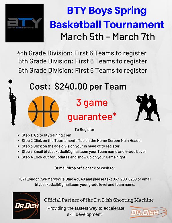 Spring BTY Boys Basketball Tournament 20