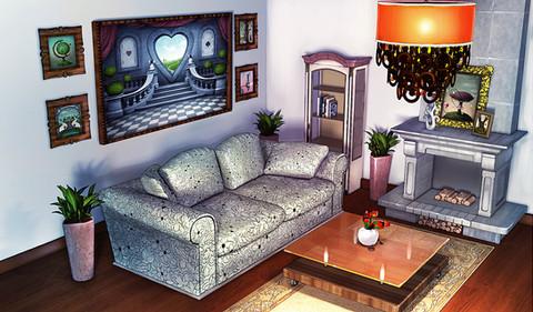 3d scene - ralpgames game art outsourcing