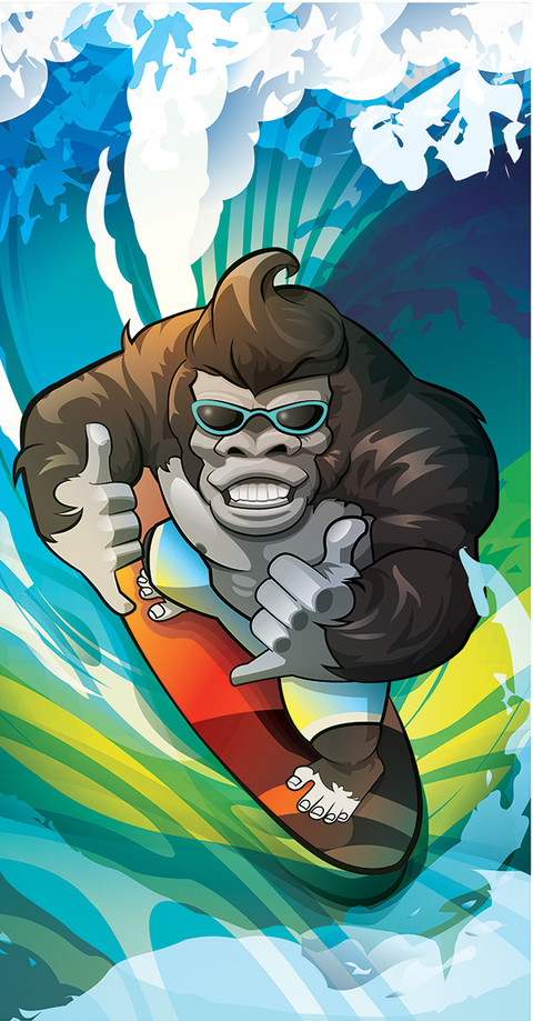 Gorilla_Surfer_ralpgames game art outsourcing