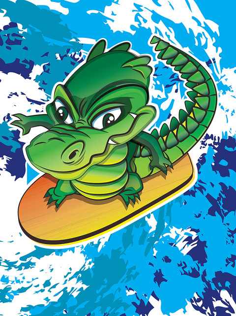 CROCODILE SURFER ralpgames game art outsourcing