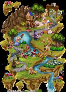 World Map Meow Medows ralpgames_game art outsourcing