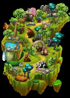 Worldmap3 - Wildlife Woods ralpgames_game art outsourcing