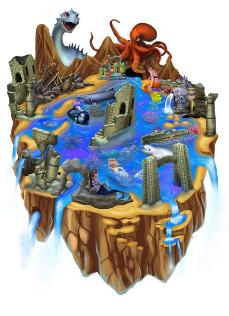 Worldmap2 - Mermaids Atlanteans Oceans.p