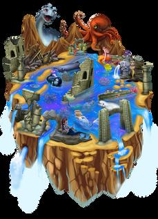 Worldmap2 - Mermaids Atlanteans Oceans ralpgames_game art outsourcing