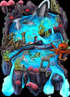 Worldmap-Oceanus ralpgames_game art outsourcing