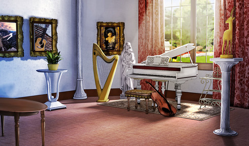 scene 3d musci room ralpgames game art outsourcing
