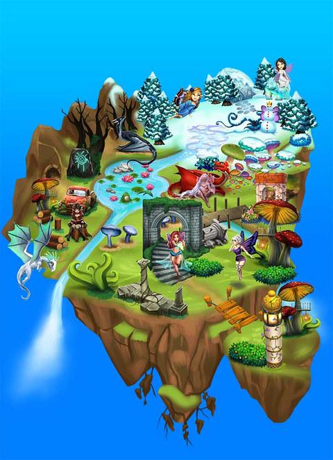 Game Art Floating Island