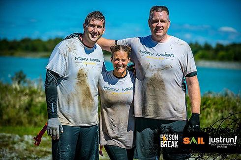 Instructors at a mud race