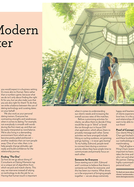 Professional Modern-Day Matchmaker Write-up Singapore