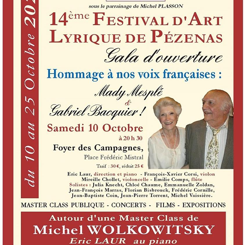 Gala d'ouverture Festival Pézenas Enchantée - Hommage à Mady Mesplé et Gabriel Bacquier
