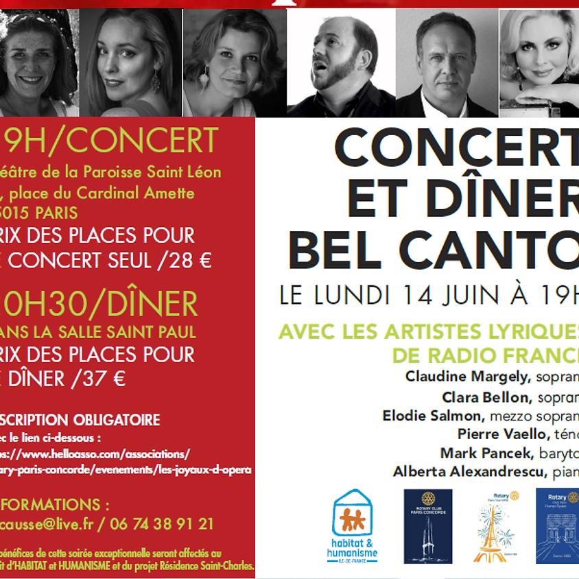 Les joyaux d'Opéra - concert et dîner Bel Canto