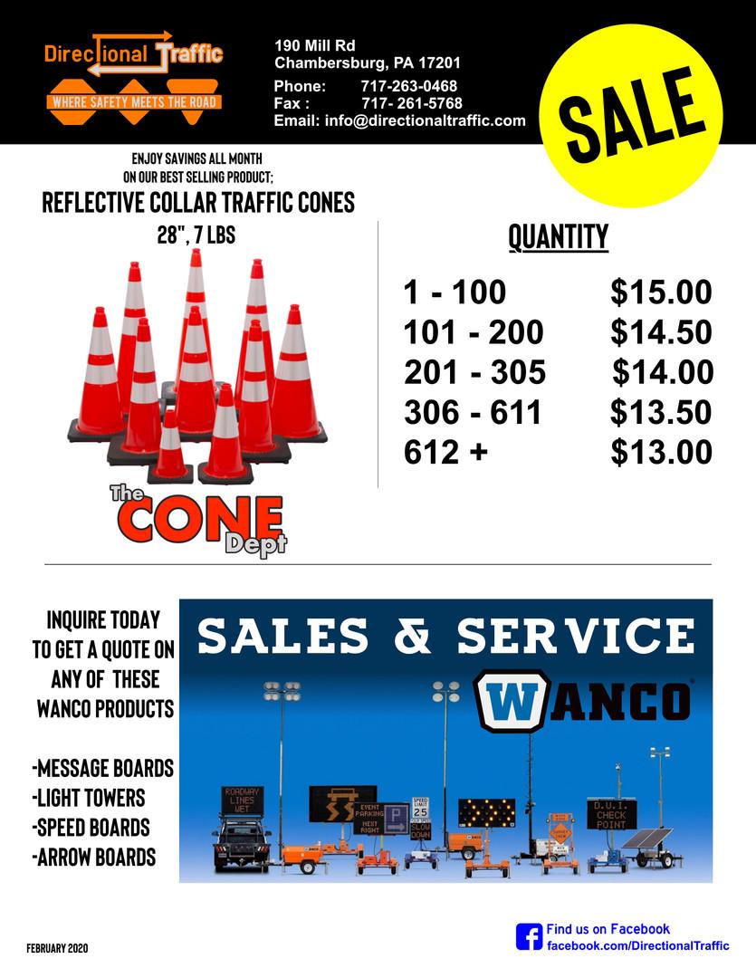 February Cone Sale