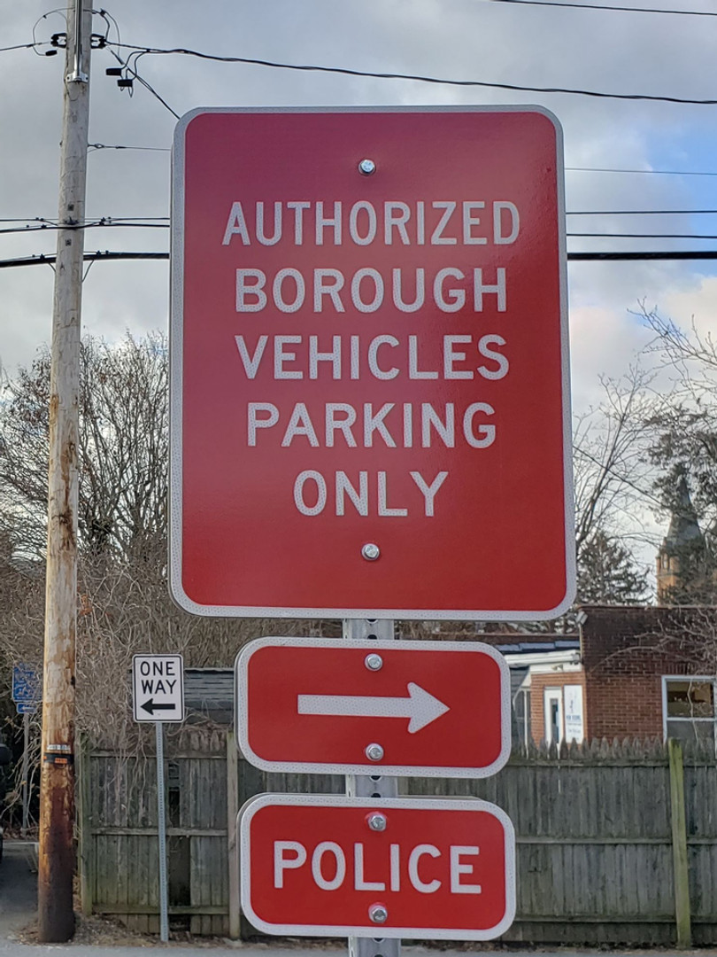 permanent road signs