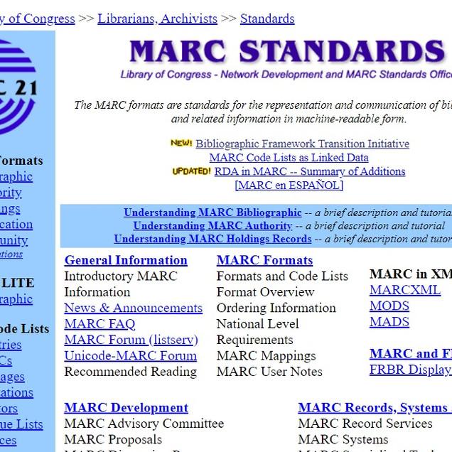 MARC Standards