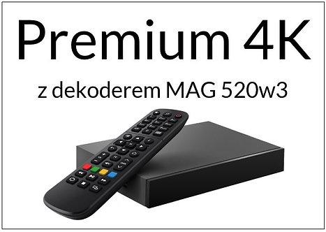 Pakiet Premium 4K + dekoder MAG 520w3 4K (12 miesięcy / 365 dni)