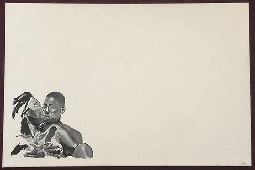 Black History Love (Canvas Print) 30x40