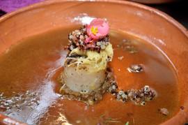 Callo de hacha y quinoa