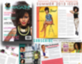 Natural Hair Magazine featuring India Benet