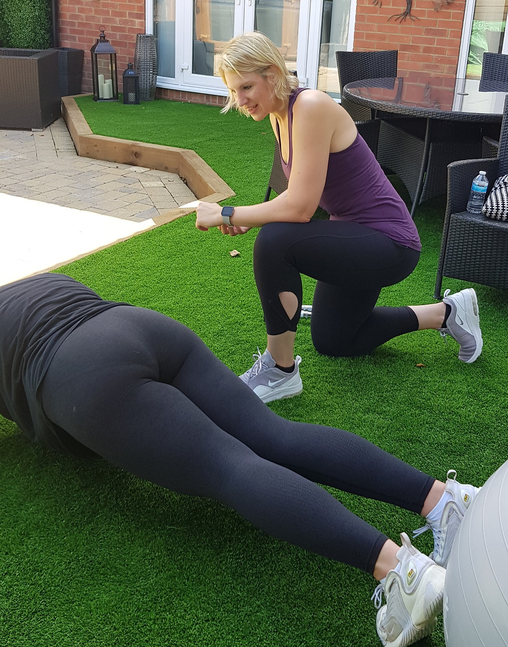 A personal training session in Reading.