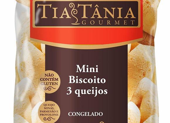 Pão de Queijo mini biscoito 3 queijos 15g , embalagem 1Kg