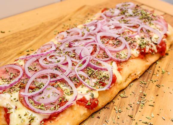 Combo 1, Pizza Calabresa com Cebola + Pizza Mozzarella + Sorvete Creme 2L
