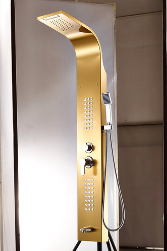 Stainless Steel Shower Panel With Overhead Waterfall