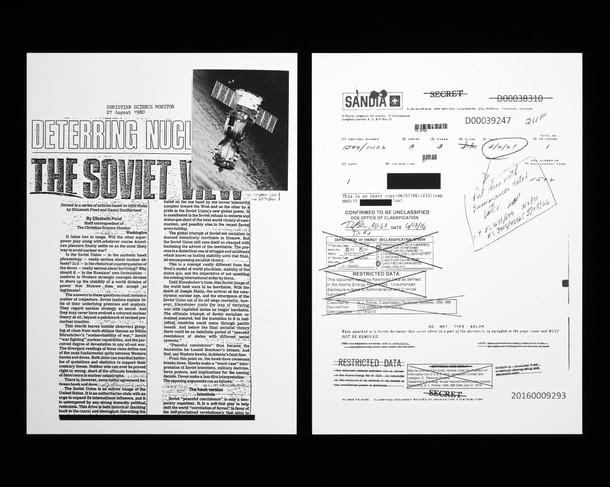 Rapport américain sur l'état de la menace nucléaire soviétique 50 x 62,5 cm, 2019 ©David Munoz, Adagp Paris.
