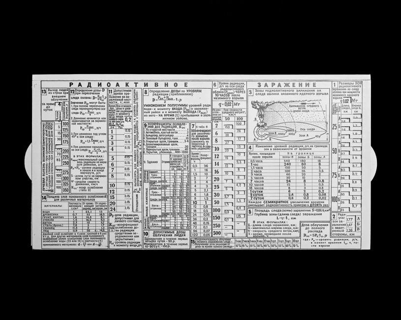 Calculateur des effets d'une explosion nucléaire soviétique 50 x 62,5 cm, 2019 ©David Munoz, Adagp Paris.