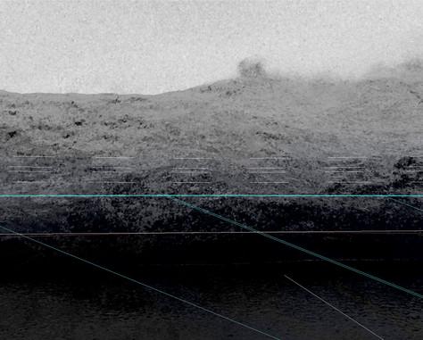 Vision du paysage par le sous-marin 50 x 62,5 cm, 2019 ©David Munoz, Adagp Paris.