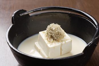 看板メニューの親子湯豆腐