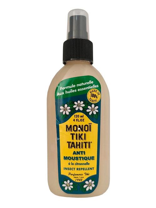 Repelente Monoi Anti Mosquitos Tiki Tahiti  120ml