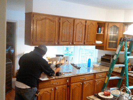 Painting and Refinishing Kitchen Cabinets