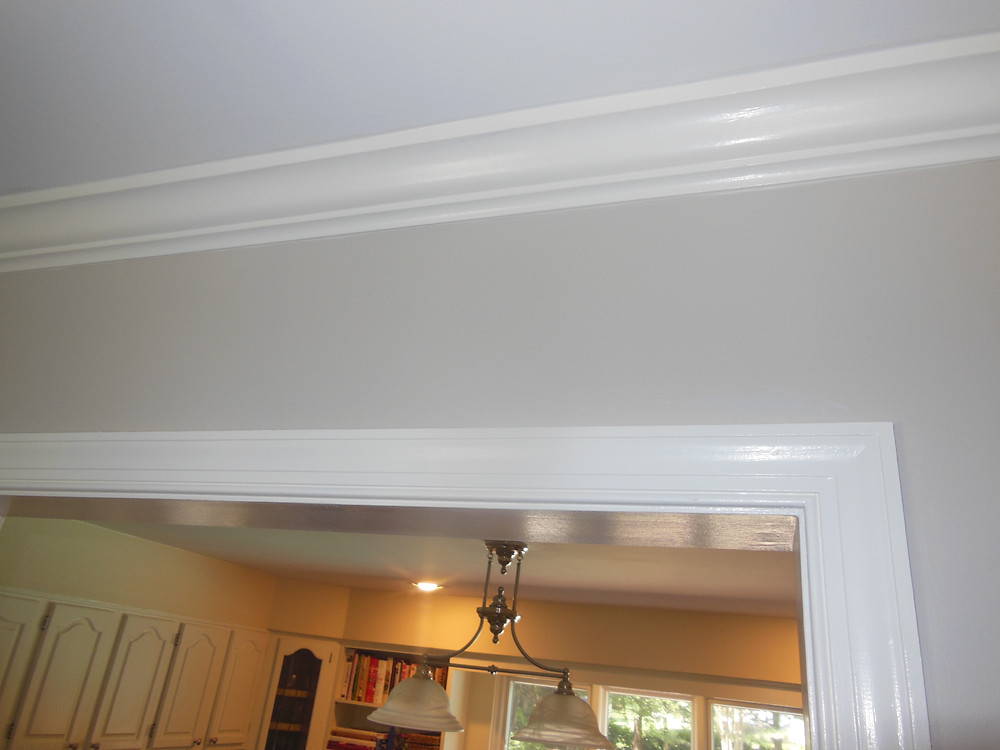 Crown Molding Installing and Painting