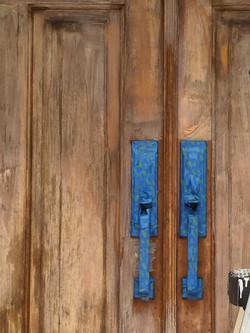 Before Door Stain in Vienna, Va