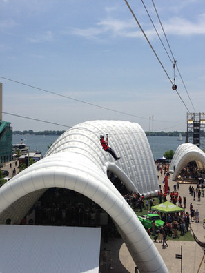 2015 PanAm Games Ziplines - Toronto, Canada